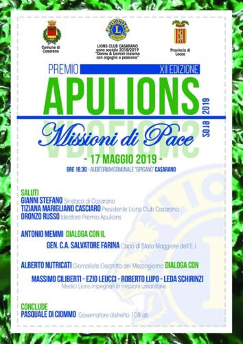 Premio APULIONS 2019