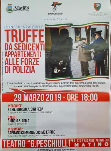 Conferenza sulle truffe