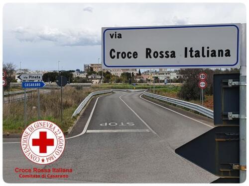 intitolazione via Croce Rossa